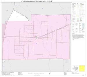 Primary view of object titled 'P.L. 94-171 County Block Map (2010 Census): Dickens County, Inset A01'.