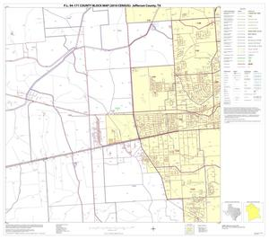 Primary view of object titled 'P.L. 94-171 County Block Map (2010 Census): Jefferson County, Block 6'.