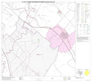 Primary view of object titled 'P.L. 94-171 County Block Map (2010 Census): Bastrop County, Block 6'.