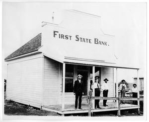 Primary view of object titled '[First State Bank]'.