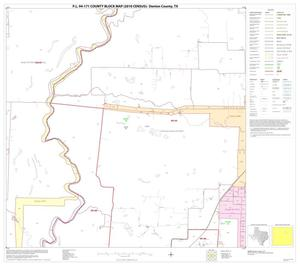 Primary view of object titled 'P.L. 94-171 County Block Map (2010 Census): Denton County, Block 27'.