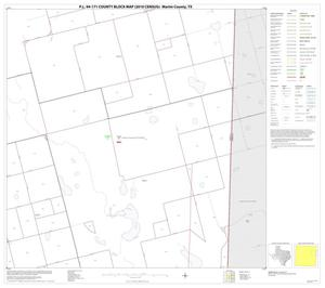 Primary view of object titled 'P.L. 94-171 County Block Map (2010 Census): Martin County, Block 8'.