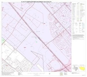 Primary view of object titled 'P.L. 94-171 County Block Map (2010 Census): Harris County, Block 280'.