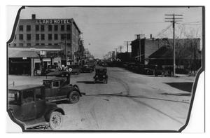 Primary view of object titled '[Street scene in Midland]'.