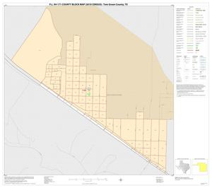Primary view of object titled 'P.L. 94-171 County Block Map (2010 Census): Tom Green County, Inset A01'.