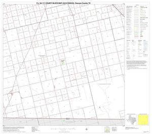 Primary view of object titled 'P.L. 94-171 County Block Map (2010 Census): Dawson County, Block 8'.