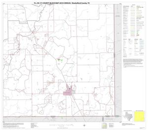 Primary view of object titled 'P.L. 94-171 County Block Map (2010 Census): Shackelford County, Block 9'.