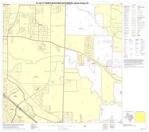 Primary view of object titled 'P.L. 94-171 County Block Map (2010 Census): Denton County, Block 46'.
