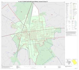 Primary view of object titled 'P.L. 94-171 County Block Map (2010 Census): Limestone County, Inset B01'.