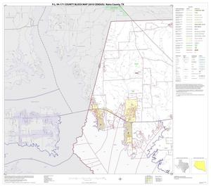 Primary view of object titled 'P.L. 94-171 County Block Map (2010 Census): Rains County, Block 1'.