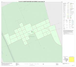 Primary view of object titled 'P.L. 94-171 County Block Map (2010 Census): Jones County, Inset E01'.