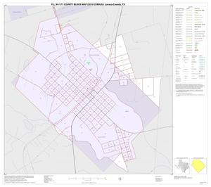 Primary view of object titled 'P.L. 94-171 County Block Map (2010 Census): Lavaca County, Inset C01'.