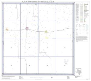 Primary view of object titled 'P.L. 94-171 County Block Map (2010 Census): Crosby County, Index'.