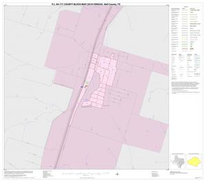 Primary view of object titled 'P.L. 94-171 County Block Map (2010 Census): Bell County, Inset C01'.