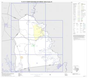 Primary view of object titled 'P.L. 94-171 County Block Map (2010 Census): Sabine County, Index'.