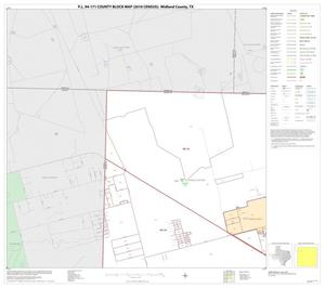 Primary view of object titled 'P.L. 94-171 County Block Map (2010 Census): Midland County, Block 1'.