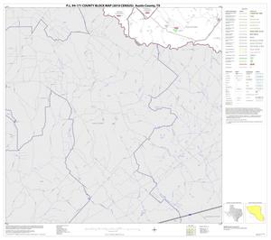 Primary view of object titled 'P.L. 94-171 County Block Map (2010 Census): Austin County, Block 11'.