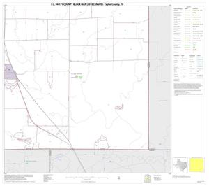Primary view of object titled 'P.L. 94-171 County Block Map (2010 Census): Taylor County, Block 16'.
