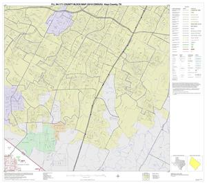 Primary view of object titled 'P.L. 94-171 County Block Map (2010 Census): Hays County, Block 6'.