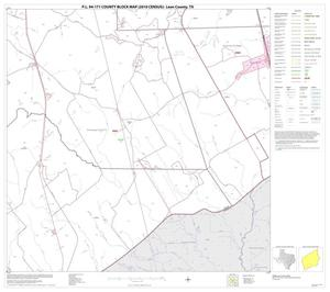 Primary view of object titled 'P.L. 94-171 County Block Map (2010 Census): Leon County, Block 18'.