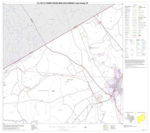 Primary view of object titled 'P.L. 94-171 County Block Map (2010 Census): Leon County, Block 8'.