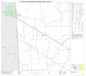 Primary view of object titled 'P.L. 94-171 County Block Map (2010 Census): Red River County, Block 26'.