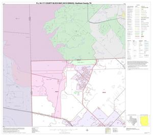 Primary view of object titled 'P.L. 94-171 County Block Map (2010 Census): Kaufman County, Block 1'.
