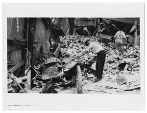 Crushed Garage After Galveston, Texas Storm, 1915
