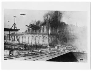 Primary view of object titled 'Building on Fire, Galveston, Texas'.