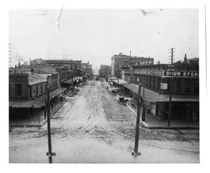 Primary view of object titled 'Street Scene in Ft. Worth, Texas'.