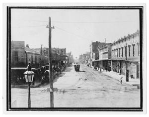 Primary view of object titled 'Ft. Worth Street Scene'.