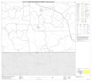 Primary view of object titled 'P.L. 94-171 County Block Map (2010 Census): Sutton County, Block 22'.