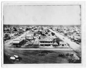 Primary view of object titled 'Commerce Street Scene in Ft. Worth, Texas in 1888'.