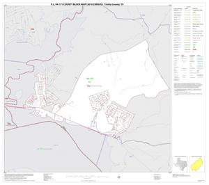 Primary view of object titled 'P.L. 94-171 County Block Map (2010 Census): Trinity County, Inset D01'.