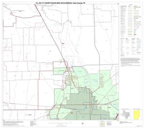 Primary view of object titled 'P.L. 94-171 County Block Map (2010 Census): Hunt County, Block 10'.