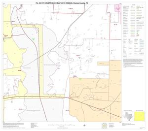 Primary view of object titled 'P.L. 94-171 County Block Map (2010 Census): Denton County, Block 37'.