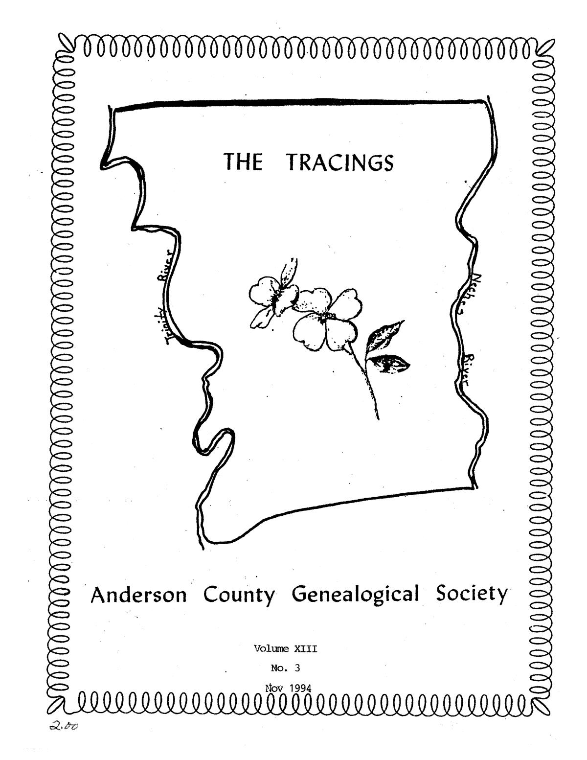 The Tracings, Volume 13, Number 03, November 1994                                                                                                      Front Cover