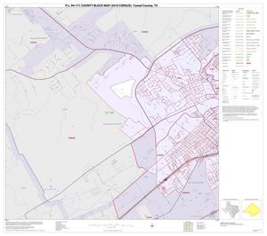 Primary view of object titled 'P.L. 94-171 County Block Map (2010 Census): Comal County, Inset C01'.