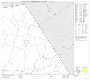 Primary view of object titled 'P.L. 94-171 County Block Map (2010 Census): Mills County, Block 3'.