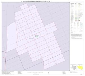 Primary view of object titled 'P.L. 94-171 County Block Map (2010 Census): Harris County, Inset M01'.