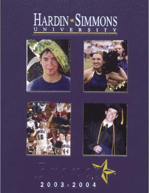 Primary view of object titled 'The Bronco, Yearbook of Hardin-Simmons University, 2004'.