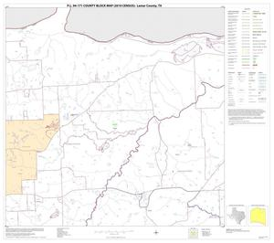 Primary view of object titled 'P.L. 94-171 County Block Map (2010 Census): Lamar County, Block 8'.