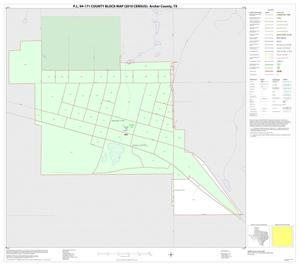 Primary view of object titled 'P.L. 94-171 County Block Map (2010 Census): Archer County, Inset C01'.