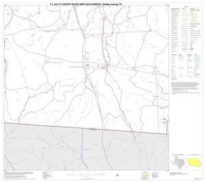 Primary view of object titled 'P.L. 94-171 County Block Map (2010 Census): Shelby County, Block 13'.