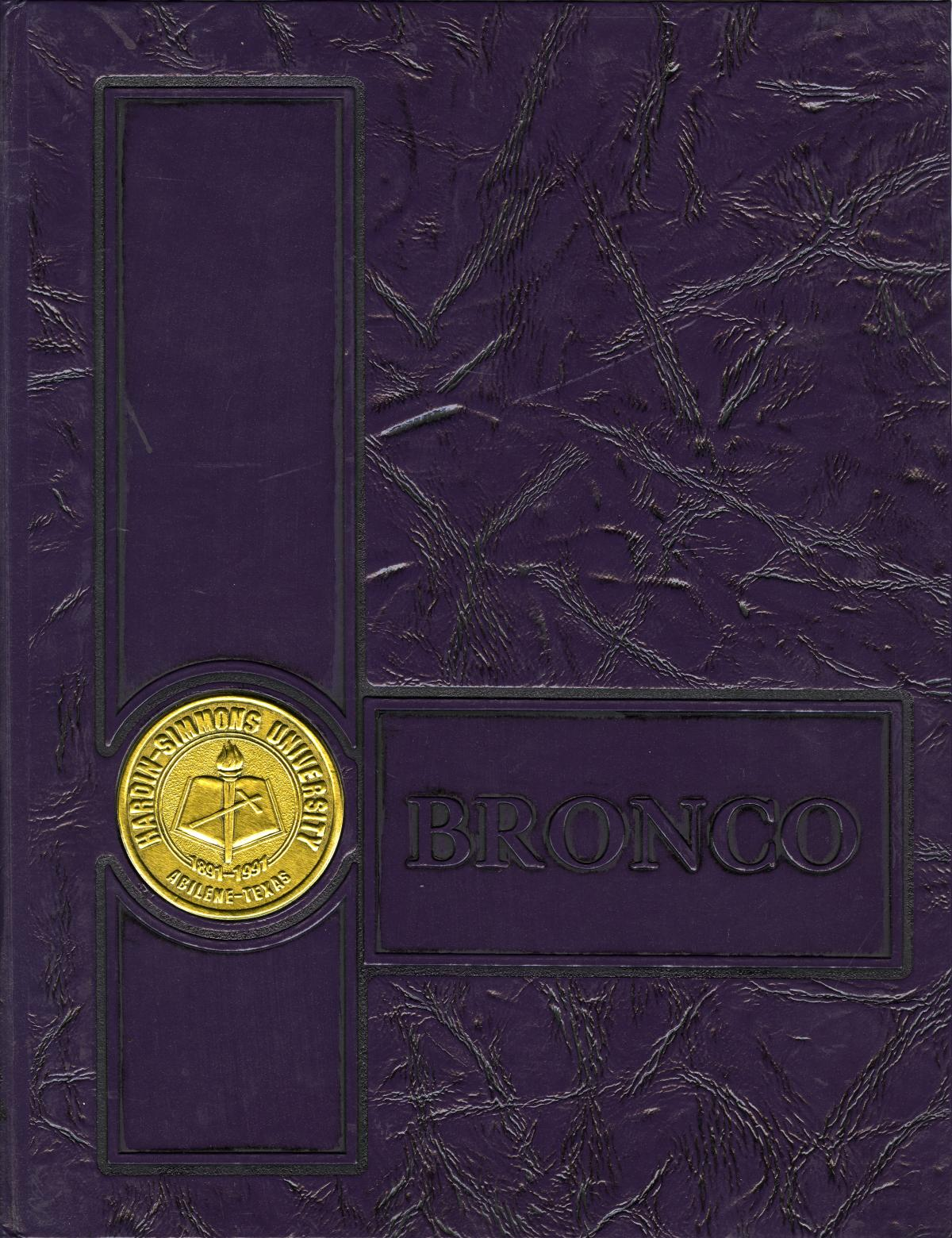 The Bronco, Yearbook of Hardin-Simmons University, 1991                                                                                                      Front Cover