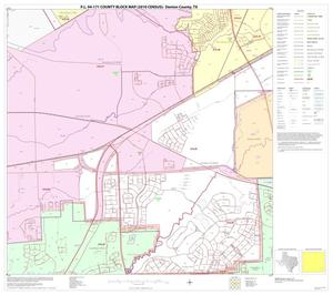 Primary view of object titled 'P.L. 94-171 County Block Map (2010 Census): Denton County, Block 79'.