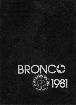 Primary view of object titled 'The Bronco, Yearbook of Hardin-Simmons University, 1981'.