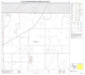 Primary view of object titled 'P.L. 94-171 County Block Map (2010 Census): Gray County, Block 3'.