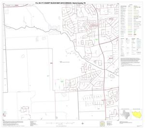 Primary view of object titled 'P.L. 94-171 County Block Map (2010 Census): Harris County, Block 148'.