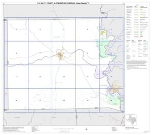 Primary view of object titled 'P.L. 94-171 County Block Map (2010 Census): Llano County, Index'.